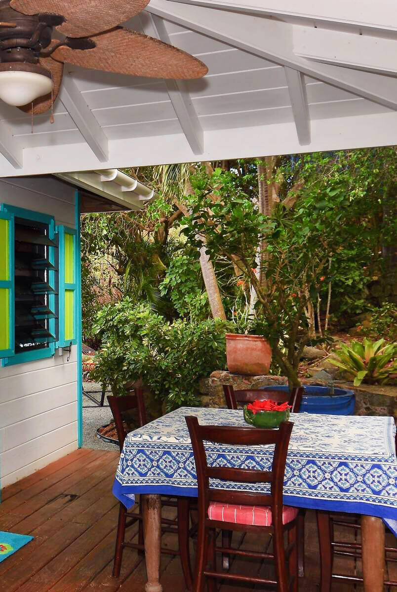 Dine outside on the covered deck