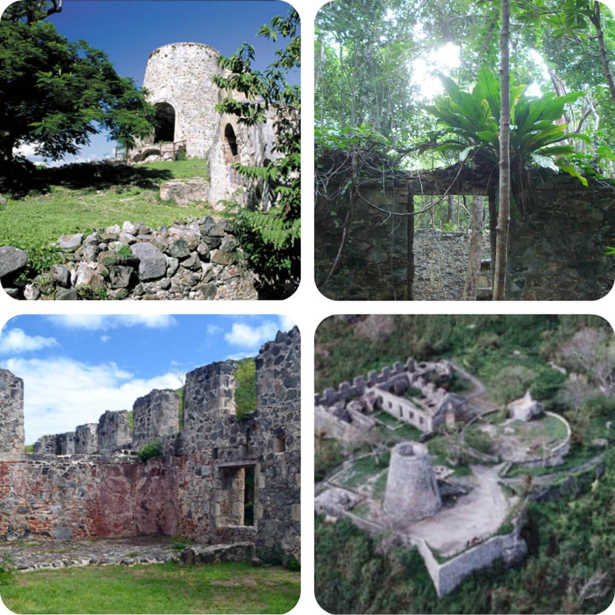 Danish ruins on St John