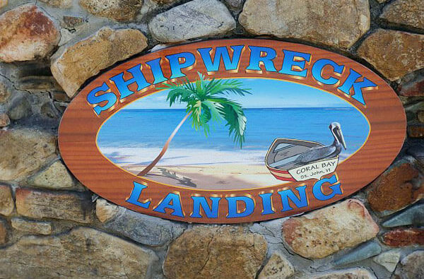 Shipwreck Landing sign