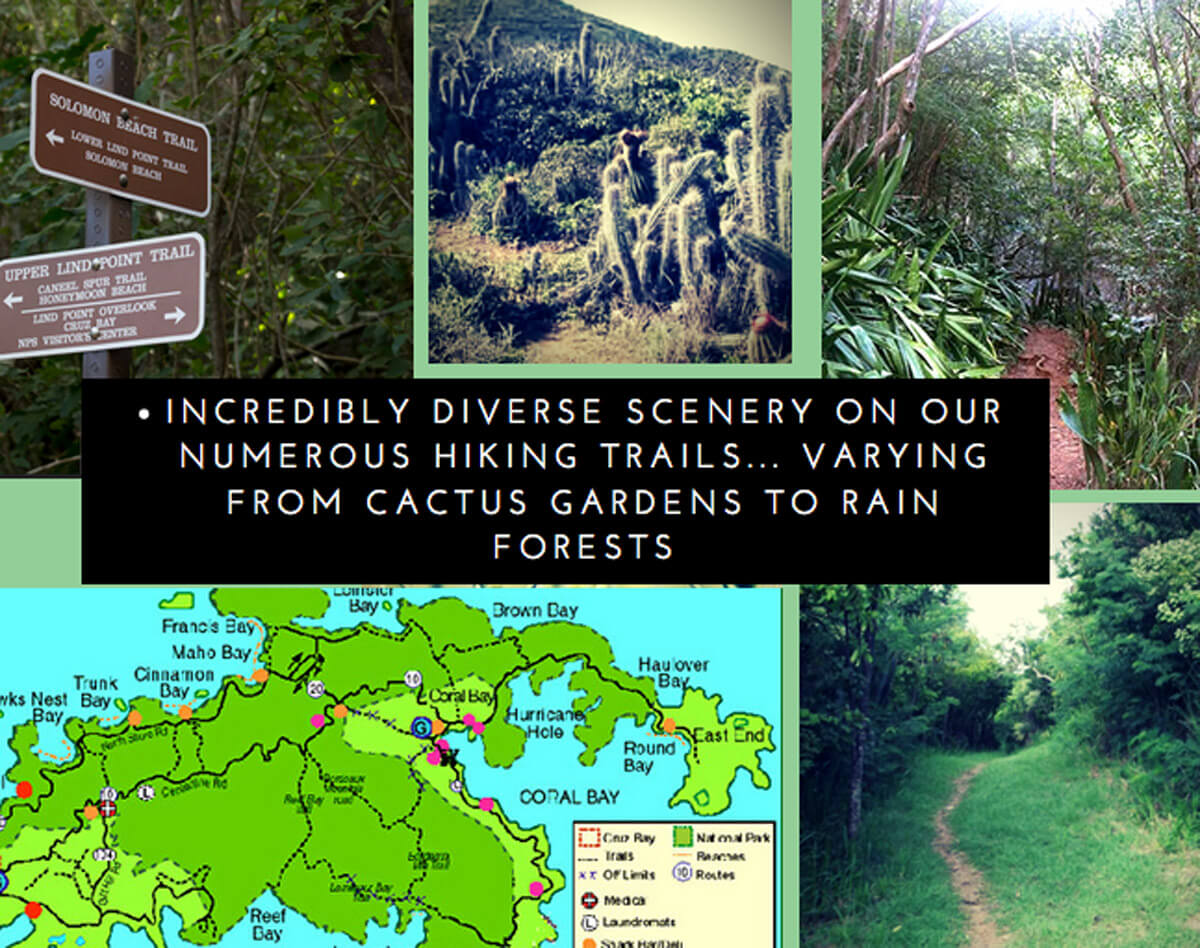 Hiking trails on St John