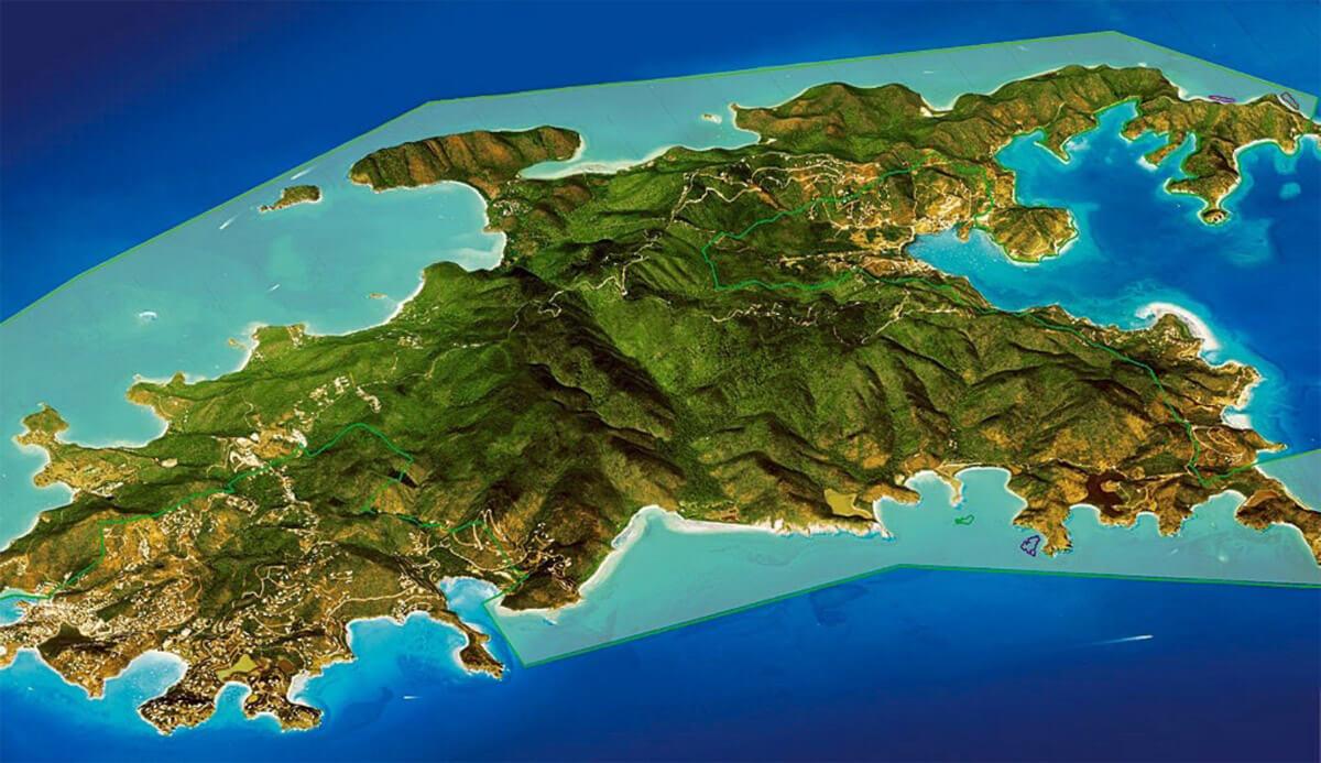 VI National Park Boundaries on St John