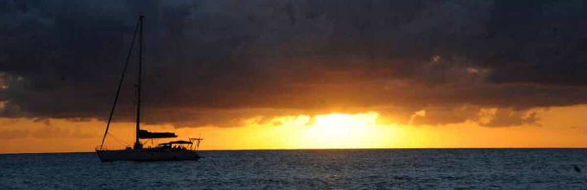 Sunset sail on St John