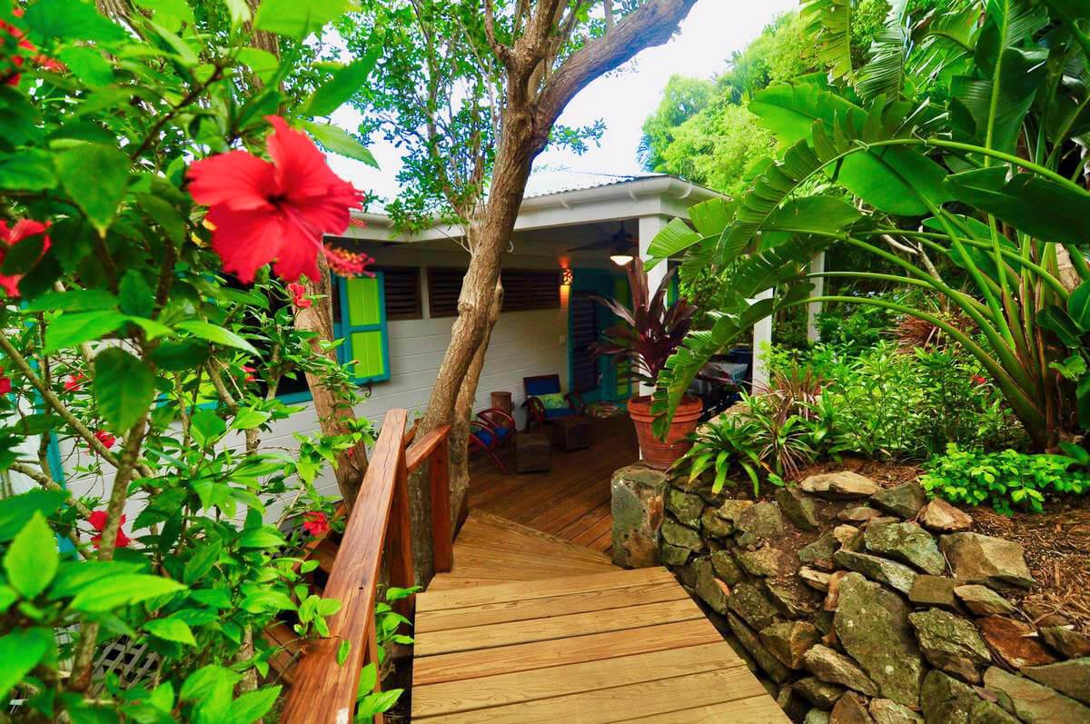 Entrance to Tortuga Cottage on St John