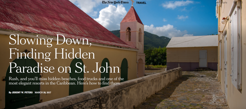New York Times Article on St. John