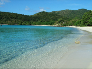 Summer: Quiet time to enjoy beautiful St. John Beaches.