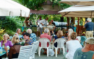 Best Deli/ Cafe on St. John: Pickles in Paradise (Coral Bay)Open Mic night in the yard at Pickles in Paradise Coral Bay