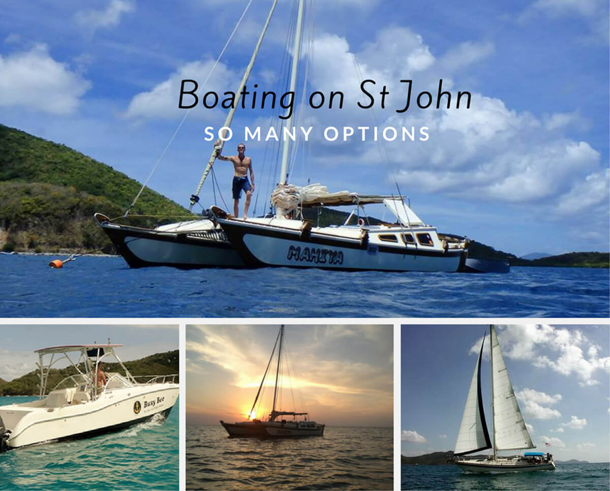 Boating on St John