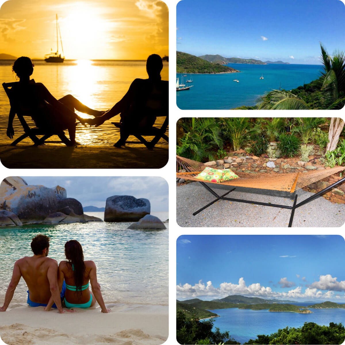Romantic honeymoon on St John