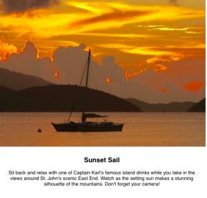 Virgin Islands sunset sail