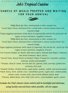 Caribbean Cuisine with honeymoon package