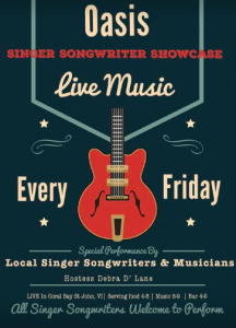 Singer Songwriter Showcase @ Coral Bay Caribbean Oasis