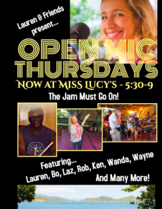 Open Mic @ Miss Lucy's Restaurant